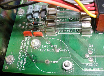 Cromemco System 1 LAS1412 12v regulator in power controller U2.