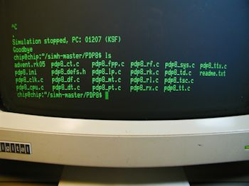 DEC Rainbow PC100-B2 connected to CHIP running simH