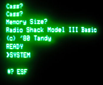 TRS 80 Model III Exatron Stringy Floppy Initialization